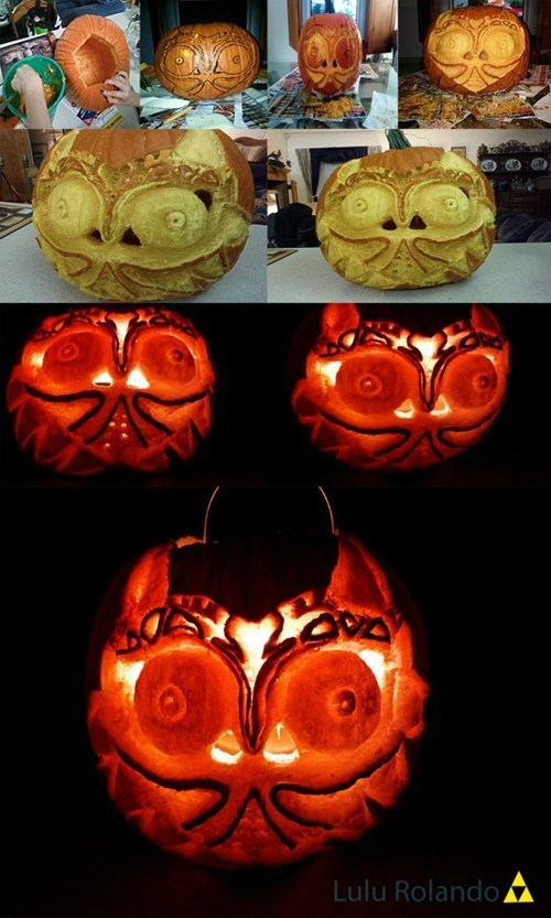 video games,majoras mask,legend of zelda,jack o lanterns,pumpkins,halloween