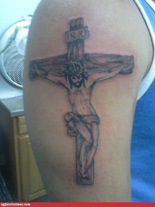 jesus arm tattoos crucifix - 6700791808
