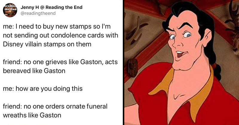 beauty and the beast's gaston twitter memes