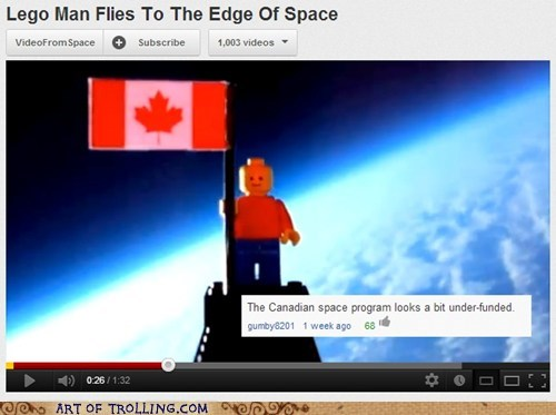 Canada,lego,space program,youtube