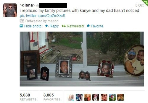 kanye west,family pictures,twitter,Twitpic
