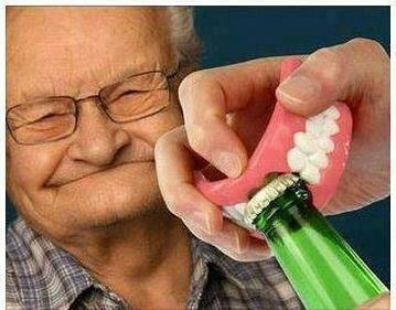 Grandpa,teeth,sloshed swag,bottle opener