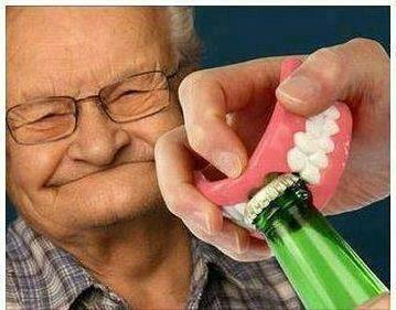 Grandpa teeth sloshed swag bottle opener - 6701660672