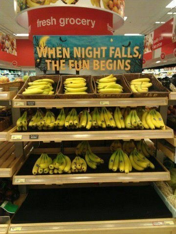 can't end well,bananas,night falls,sex toys,spooky,halloween,dating