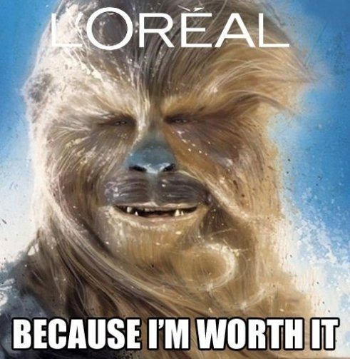 star wars,loreal,chewbacca