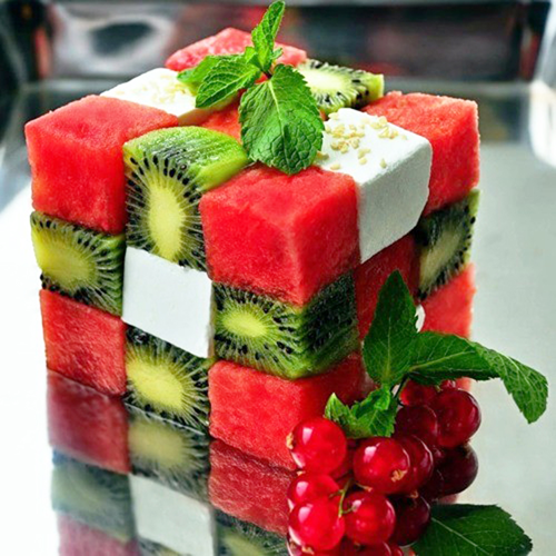rubik's cube fruit salad