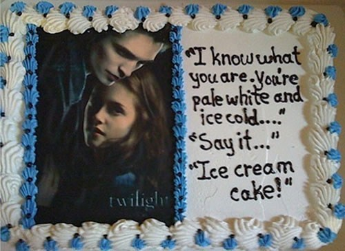 edward bella twilight ice cream cake vampires