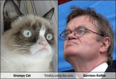 garrison keillor TLL celeb Grumpy Cat funny - 6701963008