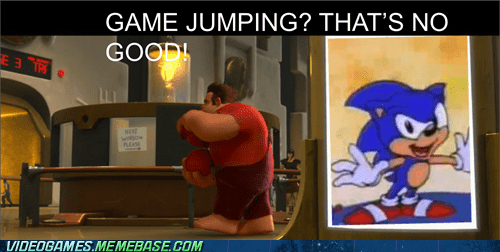 sonic,wreck-it ralph,bad idea