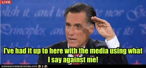 fed up,Mitt Romney,debate,had it,Media,sick
