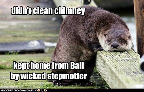 kept home from Ball by wicked stepmotter didn't clean chimney