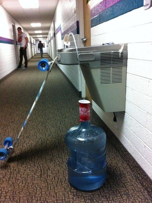 troll science,water,skateboard