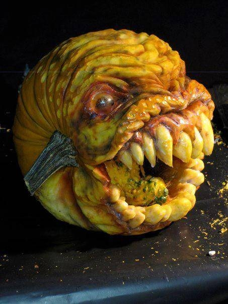 this wins halloween,pumpkins,creepy pumpkin