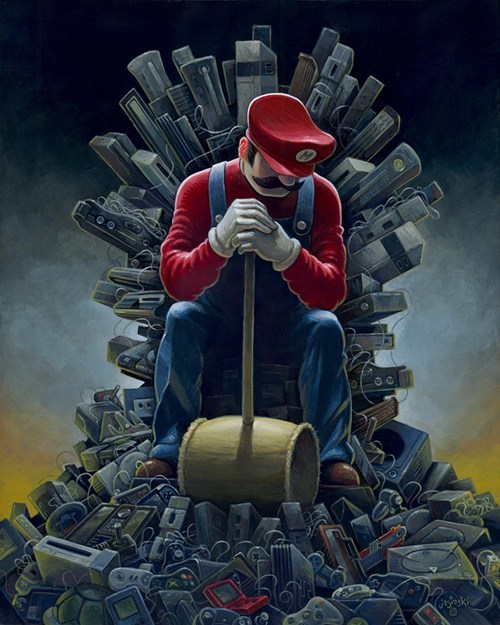mario games Game of Thrones art - 6702438656