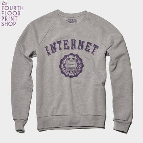 shirt college internet school print