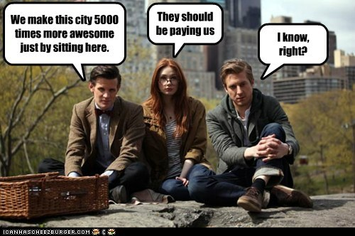 rory williams karen gillan awesome the doctor Matt Smith new york amy pond arthur darvill - 6702511104