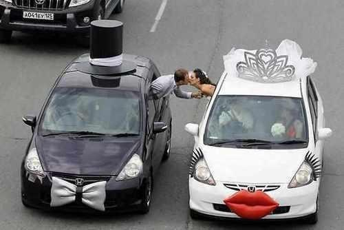 decorated,his and hers,KISS,cars