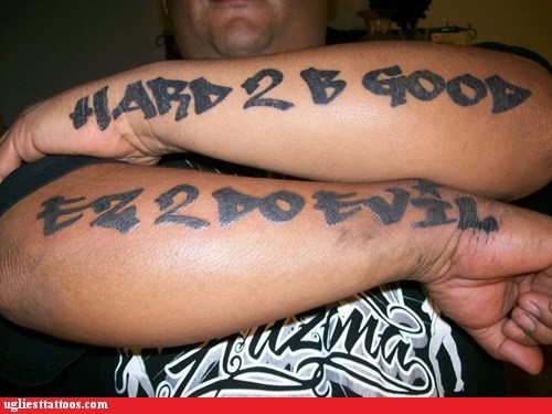 arm tattoos,idiots