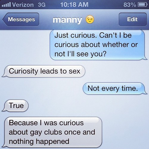 point taken curious leads to sex iPhones