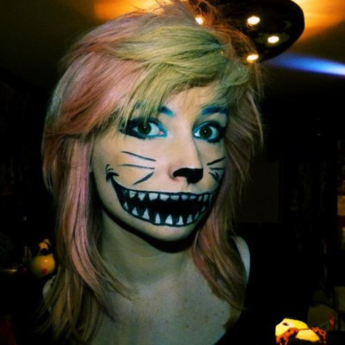 cat,face paint,raver