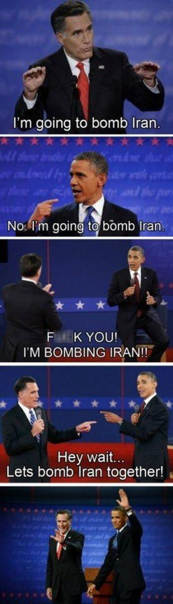 iran foreign policy debate summary agree Mitt Romney barack obama together - 6702842624