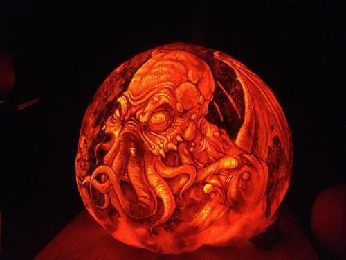 halloween cthulhu jack o lanterns pumpkins - 6703013376