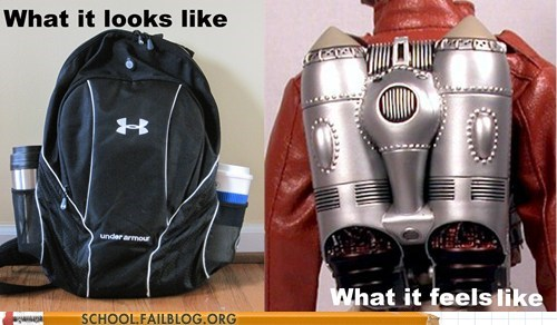 under armor,backpacks,rocket man,jetpack