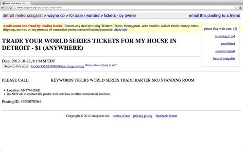 sports,World Series,baseball,craigslist,for sale