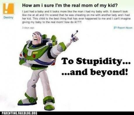buzz lightyear yahoo answers maternity test