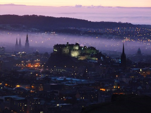 europe scotland cityscape fog - 6703289600