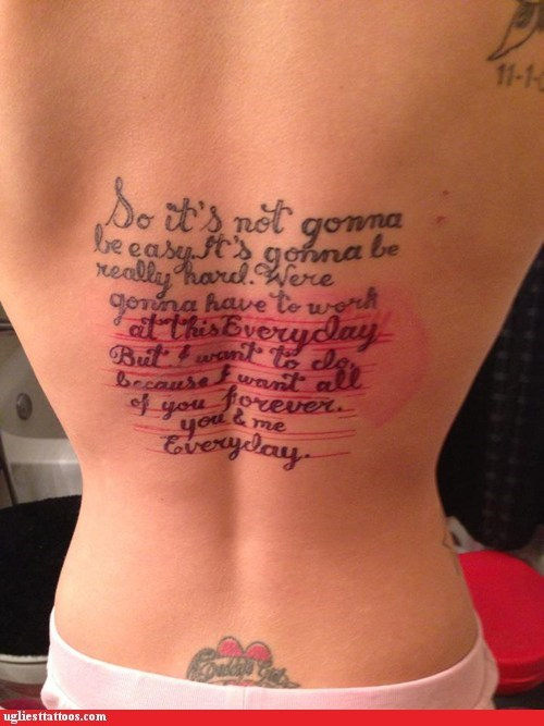 the notebook back tattoos - 6703800576