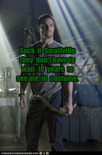arrow,costume,suck it,Smallville,stephen amell