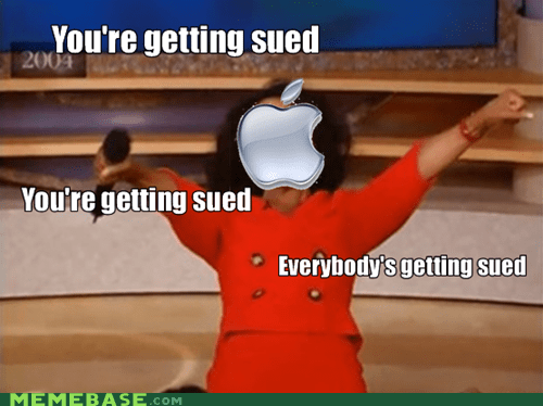 apple,sued,oprah,snowman,lawsuits are best suits