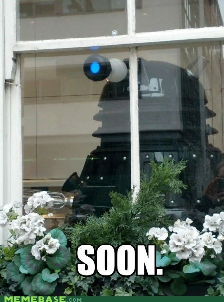 dalek,SOON,doctor who,window