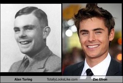 funny TLL actor celeb science Alan Turing zac efron