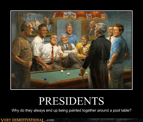 presidents wtf pool painting