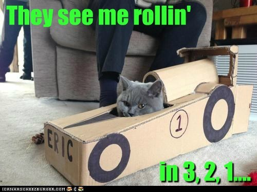They see me rollin' in 3, 2, 1....