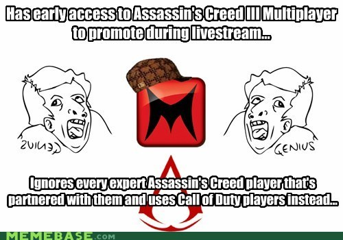 machinima,livestream,assassins-creed-3,ur a genius