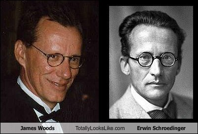 funny TLL actor celeb james woods science erwin schroedinger