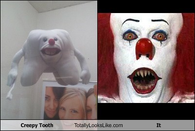 pennywise tooth clown creepy TLL it tim curry funny