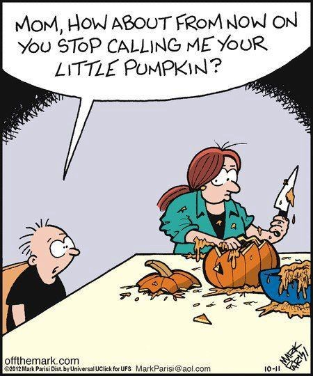 comic halloween mom pumpkin carving - 6704723200