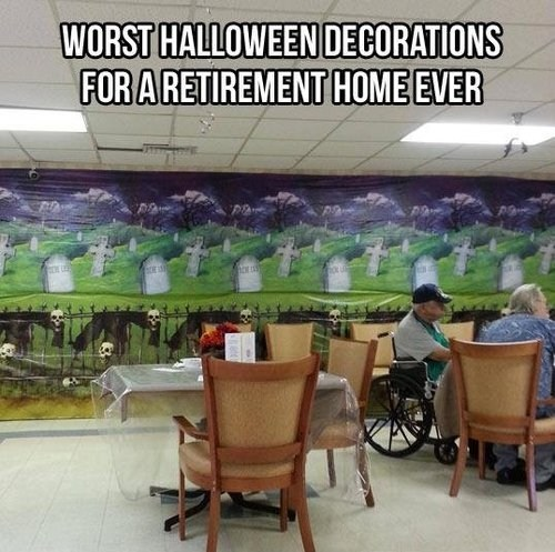 graveyard decorations halloween retirement home