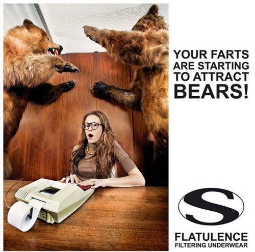 bears farting underwear