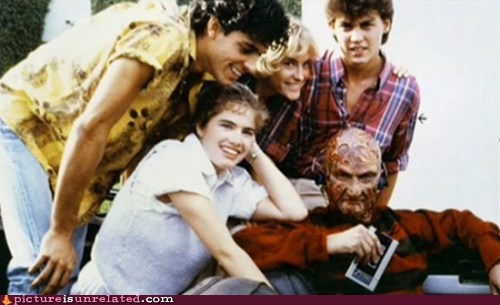 hanging out,freddy krueger,Movie,friends