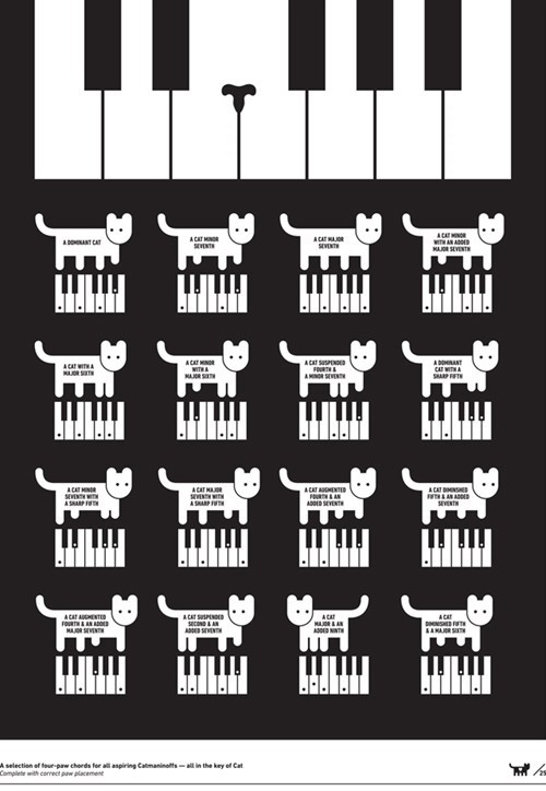 pianos Cats Keyboard Cat Music Memes lolcats the exibishun art illustrations - 6705218816