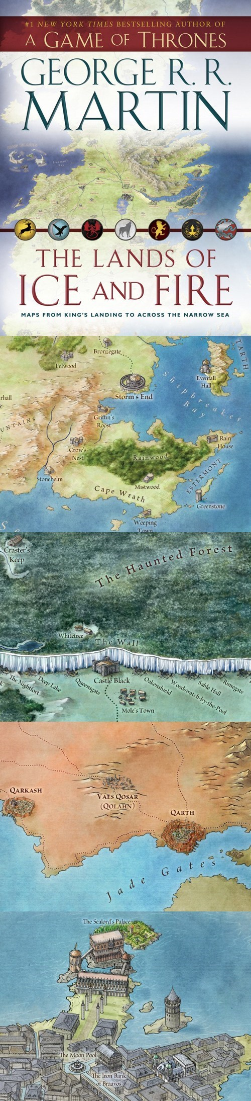 Maps Westeros George R.R.Martin a song of ice and fire Game of Thrones - 6705358080