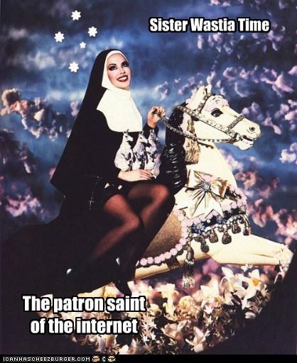 crazy carousel nun horse - 6705411584