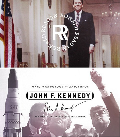branding the presidents,reagan,kennedy,jfk