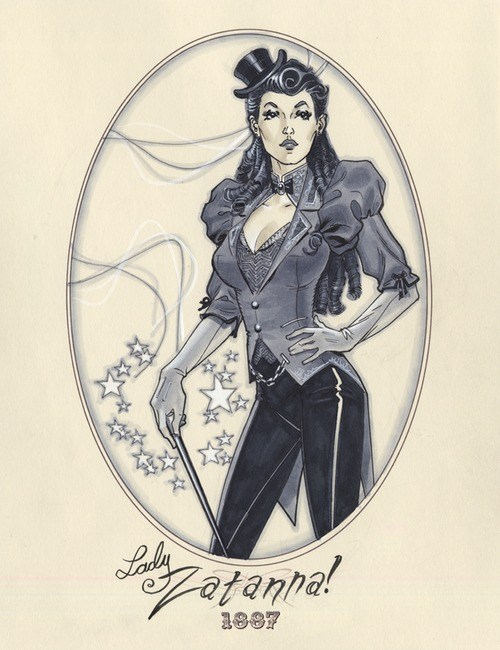 zatanna,victorian,steam punk,art
