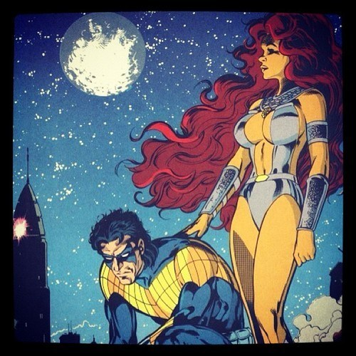 nighwing starfire love - 6705536768